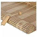 ZEMIN bambù Avvolgibile Tenda Rullo Dimmerabile Occhiali da Sole Pratico di Sollevamento, 3 Colori, 24 Dimensioni Personalizzabile (Colore : A, Dimensioni : 85×200cm)