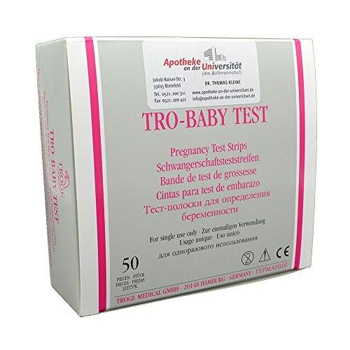 Schwangerschaftstest, 50 Teststreifen, Frühtest, hCG-Test, Testergebnis 3 Minuten, Urin-Test, Tro-Baby-Test