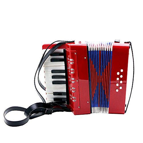 ammoon Enfants 17-clés 8 Basse Mini Instrument Petit Accordéon éducation Musicale Rhythm Band Toy