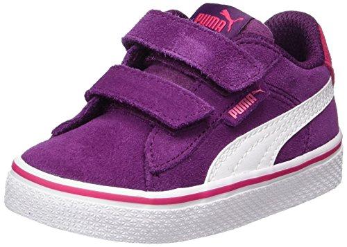 Puma Unisex-Kinder 1948 Vulc V Inf Sneaker, Violett (Dark Purple-White), 23 EU (Mädchen Schuhe 12 Puma)