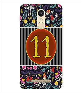PrintDhaba Numerology Number 11 D-3098 Back Case Cover for XIAOMI REDMI NOTE 3 PRO (Multi-Coloured)