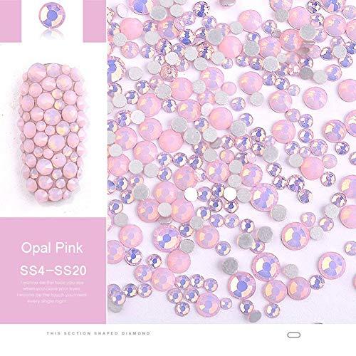 Blue Vesse 3D 350pcs Nagel Rhinestones Nägel Flache Strasssteine Nagel Schmuck Nagel Glas kristall Diamant Nail Dekorationen 4#