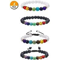4 Stück Lava Stein Armbänder mit 7 Farben Chakra Perlen, Aromatherapie Armbänder Armreifen für Ätherische Öle,... preisvergleich bei billige-tabletten.eu