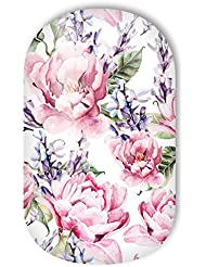 "MISS SOPHIE'S Nagelfolie -""Madame Fleury"", Blumen Pink-Rosa-Weiß, 20 selbstklebende Nail Wraps"