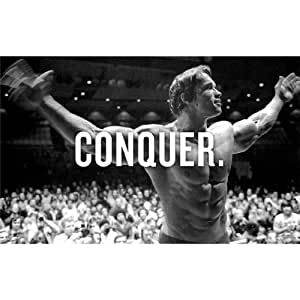 Arnold Schwarzenegger (22inch x 14inch / 56cm x 35cm) Silk Print Poster - Seide Plakat - 3B9F77
