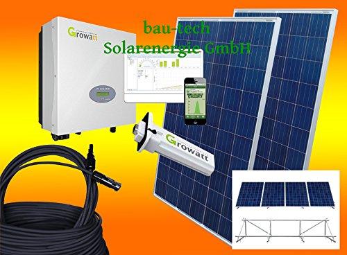 1000Watt Photovoltaikanlage für Eigenverbrauch Plug & Play Komplettset mit Montagematerial als Aufständerung von bau-tech Solarenergie GmbH