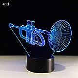 NACOLA 3D Nachtlicht,Kornett 7 Farben Erstaunliche optische Täuschung LED-Licht Tisch Schreibtischlampe Home Dekorationen