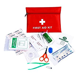 Anano First Aid Kit, for Emergency & Survival – Car,Home, Office and Sports, Response/Emergency Trauma Bag for Travel Hiking Campaign