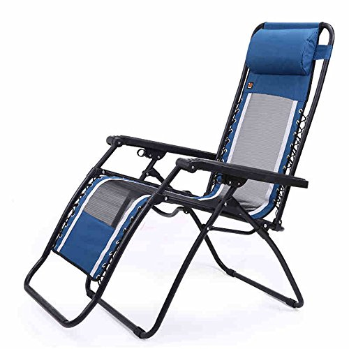 HAIZHEN ZHAIZHEN Chaise Lounge Gravity Chaise inclinable réglable Zero Gravity Chairs Recliner Lounge Patio Piscine Outdoor Chaises de salon Bleu pour cour extérieure