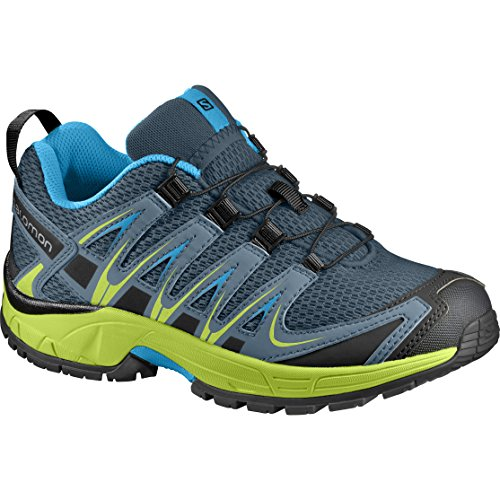 Salomon XA Pro 3D K, Zapatillas de Running Infantil, Azul (Reflecting Pond/Lime Green/Hawaiian Surf), 28 EU