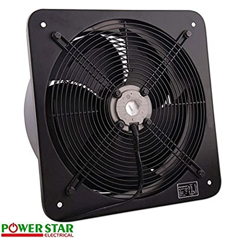 Industrial Extractor Metal Axial Exhaust Ventilation Commercial Air Blower Fan 300mm / 12
