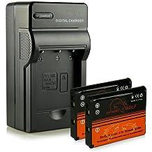 Cargador + 2x ExtremeWolf Batería EN-EL19 para Nikon Coolpix S32 | S33 | S100 | S2500 | S2550 | S2600 | S2700 | S2800 | S2900 | S3100 | S3200 | S3300 | S3500 | S3600 | S3700 | S4100 | S4150 | S4200