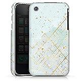 DeinDesign Apple iPhone 3Gs Coque Étui Housse Marbre Pastel Motif de Maille