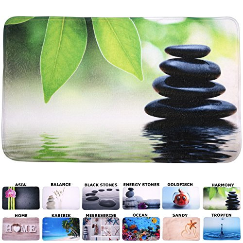 Badteppich, viele schöne Badteppiche zur Auswahl, hochwertige Qualität, sehr weich, schnelltrocknend, waschbar (50 x 80 cm, Harmony)