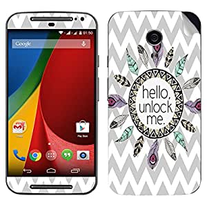 Theskinmantra Hello Unlock Me Motorola Moto G2 mobile skin