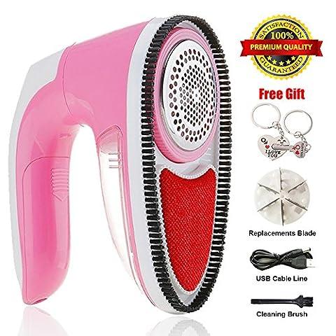 Miaojiea Portable Tissu rasoir ?lectrique, batterie Boulochage Fuzz Remover Pull V?tements Lint Shaver