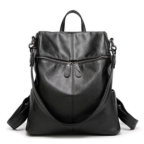 Frau Wilde Art Und Weise Beiläufigen Rucksack-Taschen Black