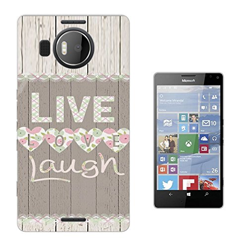002894 - Live Love Laugh Shabby Chic Floral Roses flowers Design Microsoft Nokia Lumia 950 XL Fashion Trend Silikon Hülle Schutzhülle Schutzcase Gel Rubber Silicone Hülle