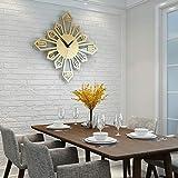 SEEKSUNG Wanduhr Stille Nicht tickt Kreative Wohnzimmer Modern minimalistische Persönlichkeit Kunst-Dekoration Stummes Quarz-Uhr (Farbe: Gold)