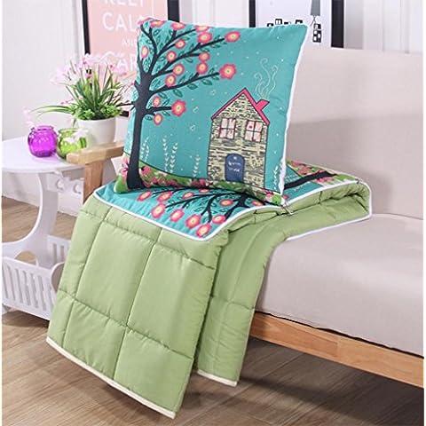 ZDBZ almohada de algodón, edredón, amortiguador de la historieta, cojines de la cama, las almohadas son de oficina sofá almohada siesta , 2