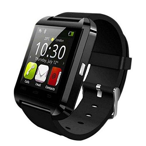 SYMTOP U8 Smartwatch Uhr Bluetooth Antwort Telefon Passometer Einbruch Alarm Schwarz (Ge-elektronik-uhr)