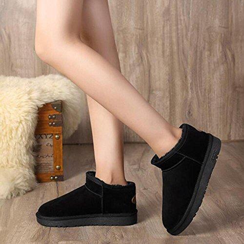 femminili di velluto più scarponi in stivali caffè black da da TT color donna in da neve femminili studente XUEDIXUE invernali Scarpe kaki donna pelle nero stivali cotone zRwHaT