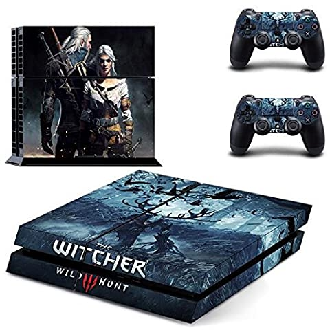 Playstation 4 + 2 Controller Aufkleber Schutzfolie Set - The Witcher (5) /PS4
