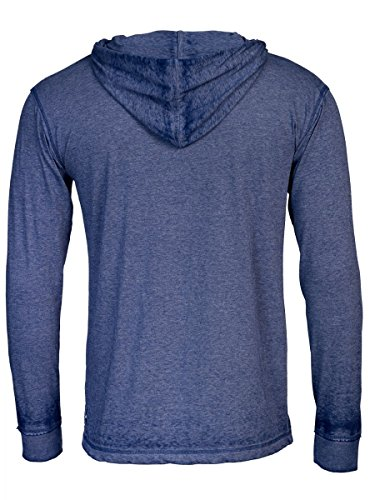 TREVOR'S INGO Herren Hoodie aus Polyester und Baumwolle - soziale fair trade Kleidung, Mode vegan und nachhaltig Color water-blue, Size M - 2
