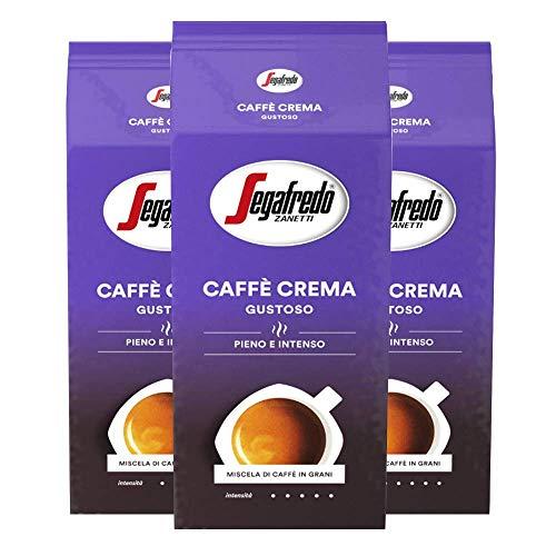 Segafredo Caffe Crema GUSTOSO 1kg Bohne - pieno e intenso 3er Pack