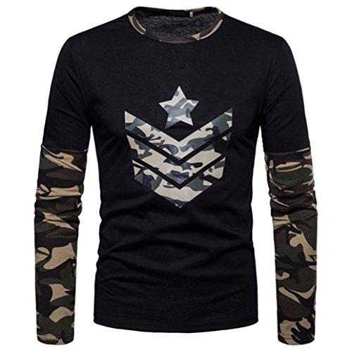 ITISME TOPS Herren Mode Mode-MäNner Herbst Camouflage Print Joint LangäRmelige Sweatshirts Top Bluse