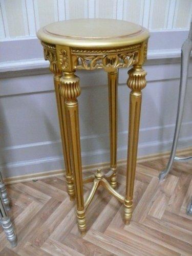 Table d'appoint ronde baroque de style antique Louis XV AlTa0332GoHI