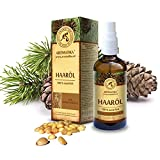 Haaröl rein natürlich, Haare Öl mit naturreinem 100 % Jojobaöl, Traubenkernöl, Zedernholzöl, Eukalyptusöl und Orangenöl für intensive Haarpflege, Haarpflegeöl für trockene und brüchige Haare, Haarwachstum, Haarstärkung,...