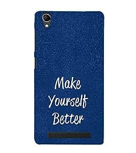 Life Quote 3D Hard Polycarbonate Designer Back Case Cover for Intex Aqua Power Plus :: Intex Aqua Power +