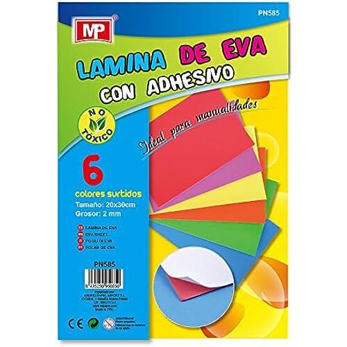 goma eva kawaii MP PN585 - Paquete de 6 Laminas Eva con adhesivo