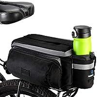 BestFire 7L camino de la montaña MTB bicicleta de la bici impermeable del deporte del asiento trasero de mano Pannier del tronco bolsa de accesorios de la bicicleta bolso de mano Pannier Negro