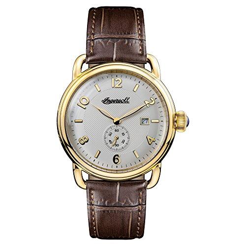 Ingersoll Herren Datum klassisch Quarz Uhr mit Leder Armband I00803