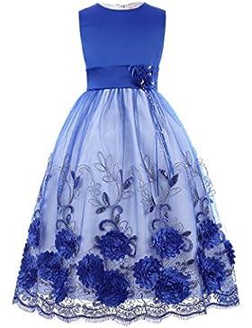 GRACE KARIN Niñas Vestido de Princesa de Dama de Honor Fiesta de Boda Bautizo sin Mangas