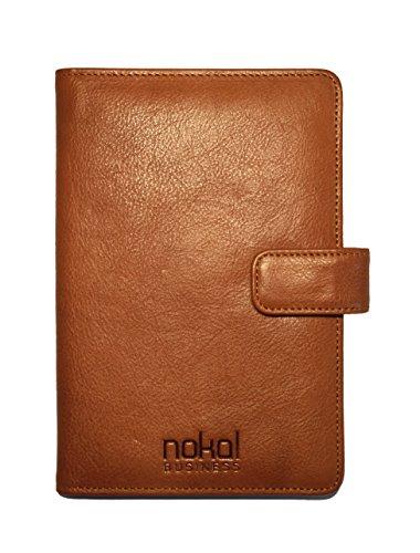 NOKAL Business Reisepass-Hülle für Herren und Damen   Echt-Leder mit RFID NFC Schutz   DIN A6  ...