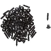 50pcs Clips Pasadores Empuje Remaches Fijación ATV de Plástico Negro 8mm