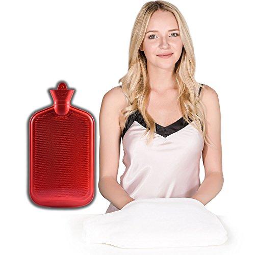 PETER PAN-Gummi mit Tasche, Wärmflasche mit Tasche, jetzt in der Größe von xxx-large mit einem, wram gekühlt für Hände und Füße, 2Quart, Weiß (Pan-bag Peter)