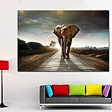 peinture sur toile photos de haute qualité HD pas cher prix grand Art éléphant d'Afrique Photos, décoration moderne 60x90CM sans cadre