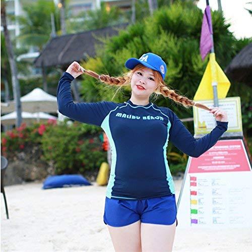 Kostüm Quallen Sexy - FuweiEncore Qualle Kostüm Blau 4-Piece Swim Wear Langarm Schwarz Muscle Video Dünne Outdoor Sports Sonnencreme Neoprenanzüge Qualle, A, 5XL Eigenschaften (Farbe : Wie Gezeigt, Größe : Einheitsgröße)