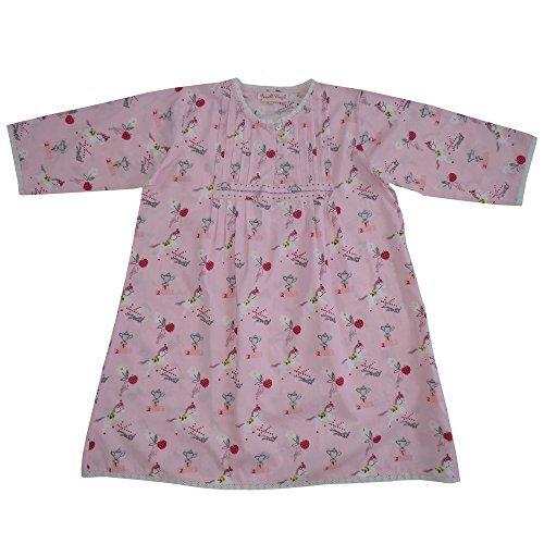 100% Baumwolle Langarm Nachthemd - Pink Pony Aufdruck - Powell Craft - 8-9 jahre alt (Baumwolle Nachthemd Stricken)