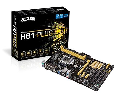 Asus H81-PLUS Mainboard Sockel LGA 1150 (ATX, Intel H81, 2x DDR3 Speicher, 2x SATA III, VGA, DVI-D, HDMI, 2x USB 3.0)