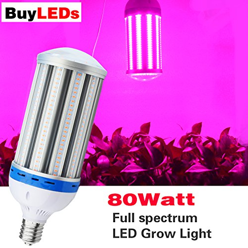 80W Led Grow Lampe MaisLicht Led Pflanzenlampe Vollespektrum 4800LM Led Grow Light Full Spectrum Rot&Blau Pflanzen Wachstum Wuchslampen Innengarten Pflanzewachsen Licht Hängeleuchte für Zimmerpflanzen (80W)