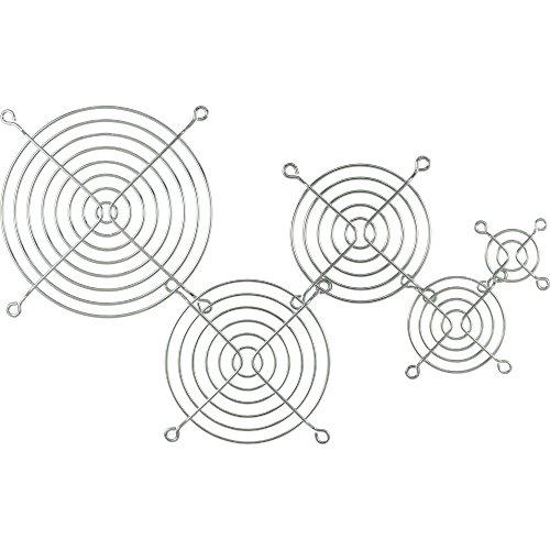 InLine Lüftergitter Metall, verchromt, 92x92mm (Chrom-metall-hardware)