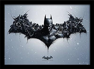 """Batman Arkham Origins """"Logo"""" 30x 40cm Affiche encadrée"""