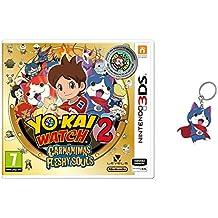 3DS Yo-Kai Watch 2: Carnánimas + Medalla - Edición Especial Limitada + Llavero