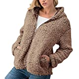 UFACE Frauen Winter Casual Warm Zipper Jacke Solide Outwear Mantel Außenmantel