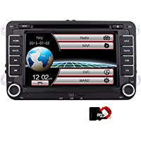 EinCar DVD Player CD GPS Navigation Bluetooth Touch Screen Radio 2 Din Stereo for VW / Volkswagen / Passat / GOLF / Skoda / Seat 7 Inch Head Unit Free Gift CanBus System 8GB GPS Map Card